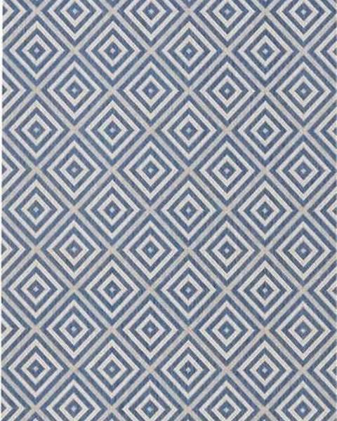 Bougari Modrý venkovní koberec Bougari Karo, 80x150cm