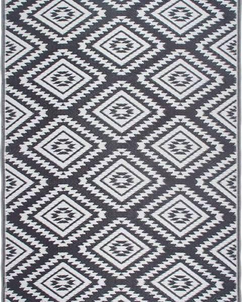Fab Hab Šedý oboustranný venkovní koberec z recyklovaného plastu Fab Hab Valencia Grey, 90 x 150 cm