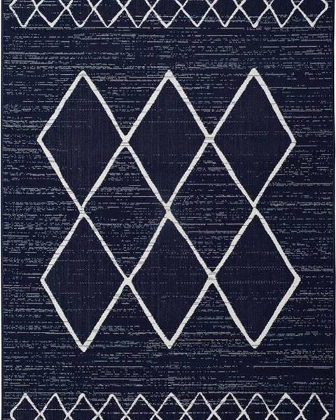 Universal Tmavě modrý venkovní koberec Universal Elba, 140 x 200 cm