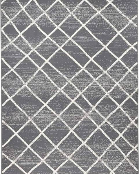 Zala Living Tmavě šedý koberec Zala LivingRhombe, 200x290cm