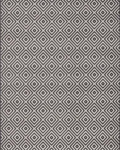 Černo-bílý venkovní koberec Bougari Karo, 160x230cm