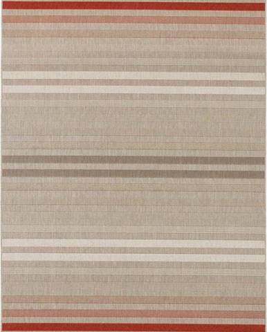 Červeno-krémový venkovní koberec Bougari Paros, 160 x 230 cm
