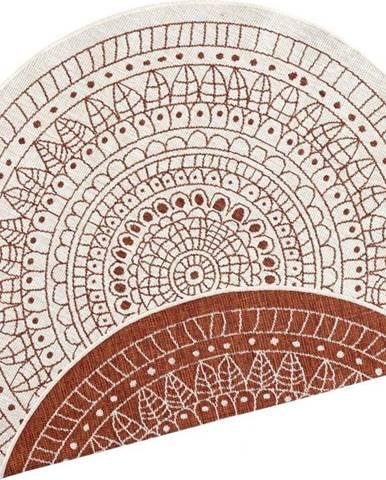 Červený venkovní koberec Bougari Porto, ø 140 cm