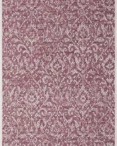 Fialovo-béžový venkovní koberec Bougari Hatta, 70 x 200 cm