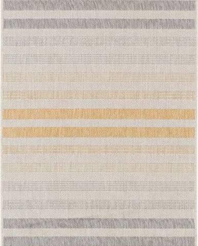 Modro-oranžový venkovní koberec Bougari Paros, 80 x 200 cm