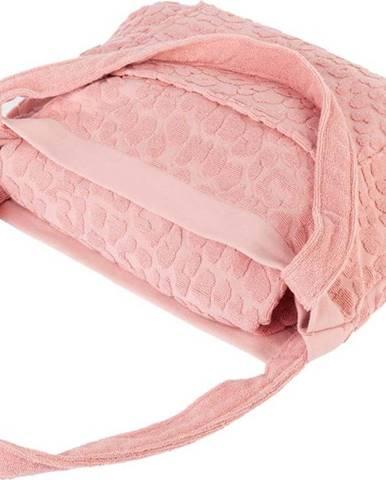 Růžová plážová taška a osuška v jednom Sunnylife Terry