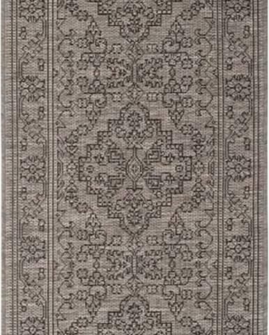Šedohnědý venkovní koberec Bougari Tyros, 70 x 200 cm