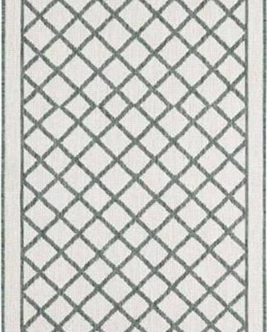 Zeleno-krémový venkovní koberec Bougari Sydney, 80 x 250 cm