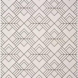 Bílobéžový venkovní koberec Universal Silvana Caretto, 80x150cm