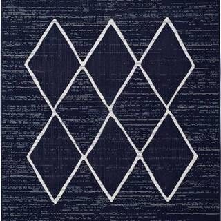 Tmavě modrý venkovní koberec Universal Elba, 140 x 200 cm