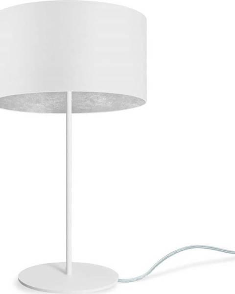 Sotto Luce Bílá stolní lampa Sotto Luce MIKA Silver M,⌀36cm