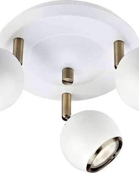 Markslöjd Bílé stropní svítidlo s detaily ve zlaté barvě Markslöjd Coco