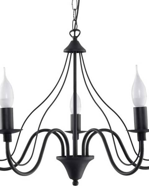 Nice Lamps Černé závěsné svítidlo Sollux Fiorano 5