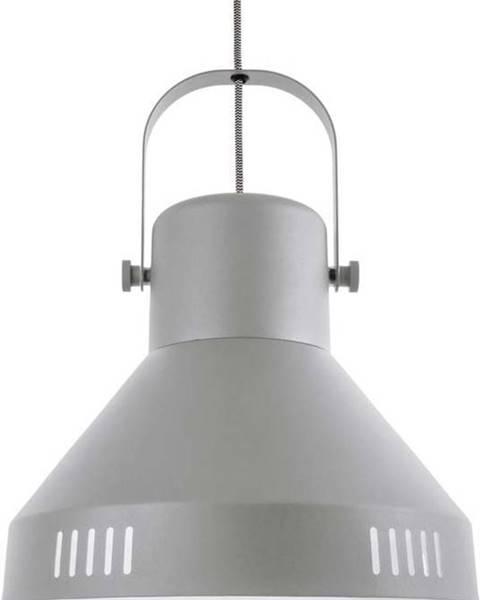 Leitmotiv Šedé závěsné svítidlo Leitmotiv Tuned Iron,ø35cm