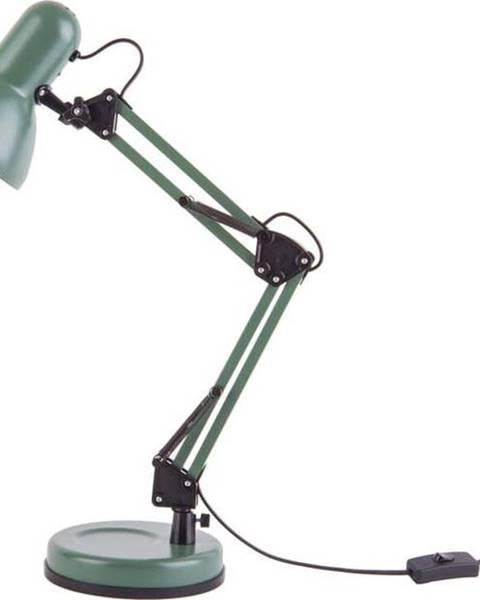 Leitmotiv Zelená stolní lampa s černými detaily Leitmotiv Hobby,ø12,5cm