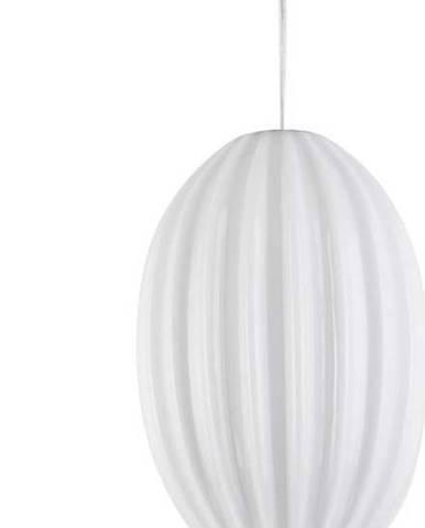 Bílé skleněné závěsné svítidlo Leitmotiv Smart,ø20cm