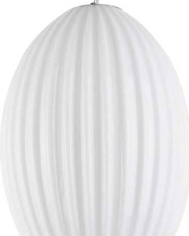 Bílé skleněné závěsné svítidlo Leitmotiv Smart,ø30cm