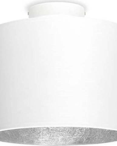 Bílé stropní svítidlo s detailem ve stříbrné barvě Sotto Luce MIKA S,⌀25cm