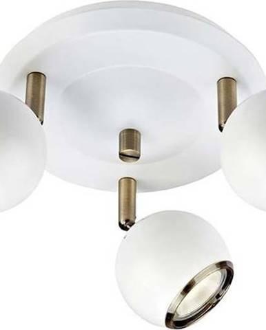 Bílé stropní svítidlo s detaily ve zlaté barvě Markslöjd Coco