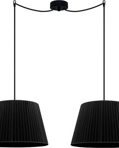 Černé dvouramenné závěsné svítidlo Sotto Luce KAMI Elementary M 2S