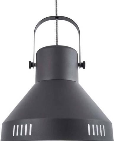 Černé závěsné svítidlo Leitmotiv Tuned Iron,ø35cm
