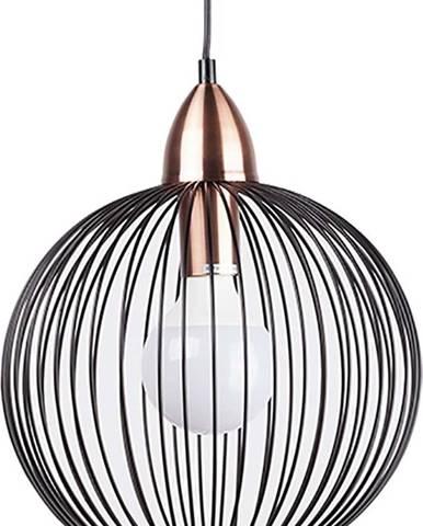 Černé závěsné svítidlo sømcasa Tibi, ø 35cm