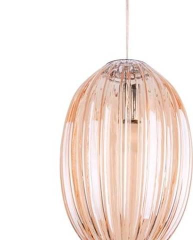 Hnědé skleněné závěsné svítidlo Leitmotiv Smart,ø20cm