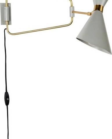 Šedá nástěnná lampa Zuiver Shady