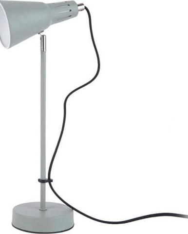 Šedozelená stolní lampa Leitmotiv Mini Cone,ø16cm