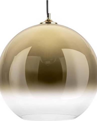 Skleněné závěsné svítidlo ve zlaté barvě Leitmotiv Bubble,ø40 cm