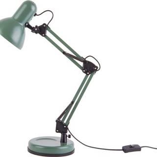 Zelená stolní lampa s černými detaily Leitmotiv Hobby,ø12,5cm