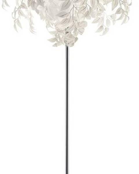 TRIO Bílá stojací lampa Trio Leavy, výška 180 cm