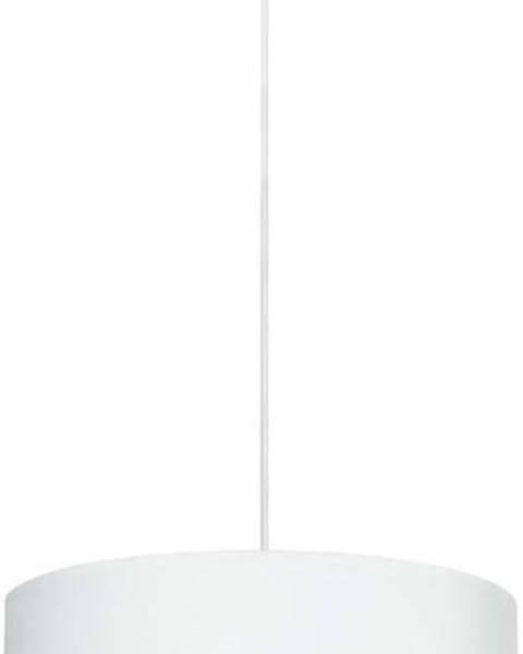 Sotto Luce Bílé závěsné svítidlo s detailem ve stříbrné barvě Sotto Luce Mika XL, ⌀50cm