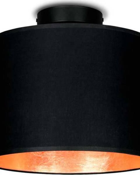 Sotto Luce Černé stropní svítidlo s detailem v měděné barvě Sotto Luce MIKA,⌀25cm