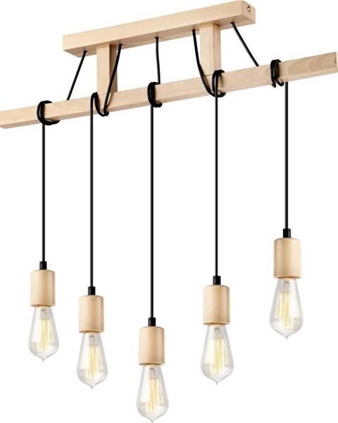LAMKUR Dřevěné závěsné svítidlo pro 5 žárovek Lamkur Leon