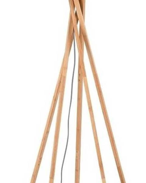 Good&Mojo Stojací lampa se světle béžovým stínidlem a konstrukcí z bambusu Good&Mojo Kilimanjaro