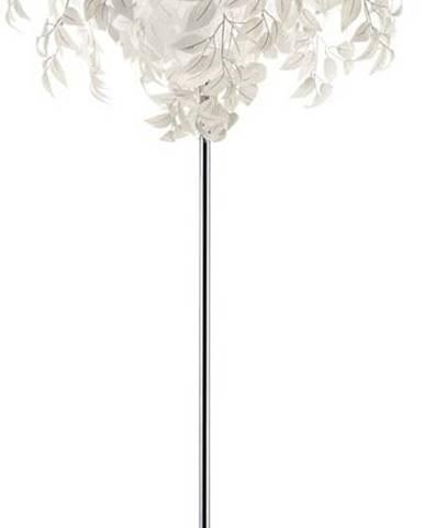 Bílá stojací lampa Trio Leavy, výška 180 cm