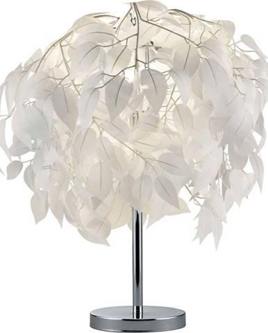 Bílá stolní lampa Trio Leavy, výška 60 cm