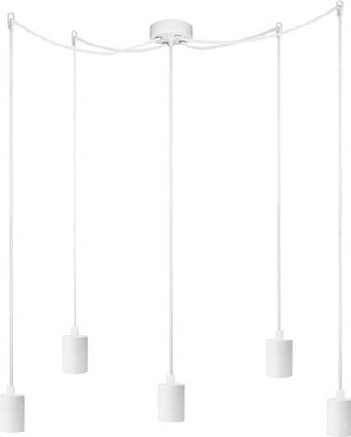 Bílé pětiramenné závěsné svítidlo Bulb Attack Cero Basic