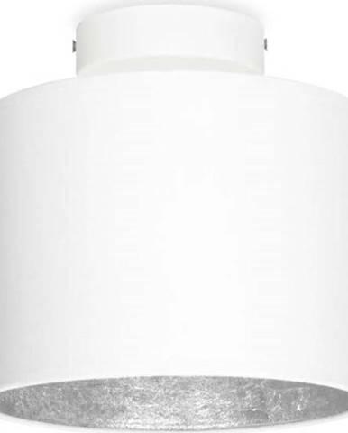 Bílé stropní svítidlo s detailem ve stříbrné barvě Sotto Luce MIKA Elementary XS, ø 20 cm