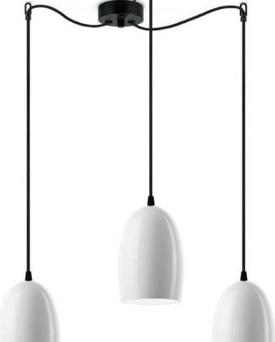 Bílé trojramenné závěsné svítidlo Sotto Luce Ume S Glossy,⌀13,5cm