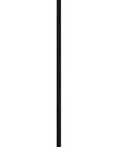Bílé závěsné svítidlo s černým kabelem a detaily ve zlaté barvě Sotto Luce Awa