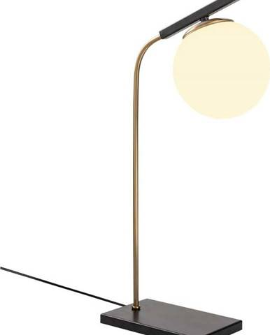 Černá kovová stolní lampa Opviqlights Nona