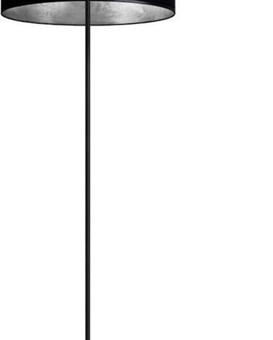 Černá stojací lampa Sotto Luce MIKA Elementary XL Silver,⌀50cm