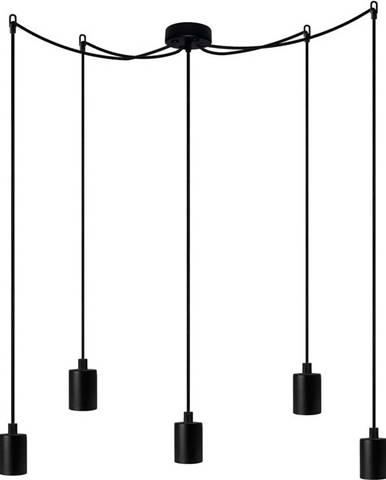 Černé pětiramenné závěsné svítidlo Bulb Attack Cero Basic