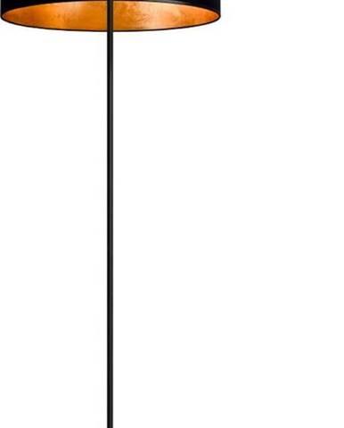 Černo-zlatá stojací lampa Sotto Luce MIKA Elementary Xl 1F