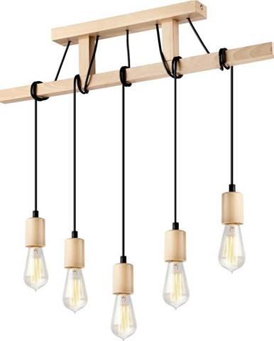 Dřevěné závěsné svítidlo pro 5 žárovek Lamkur Leon