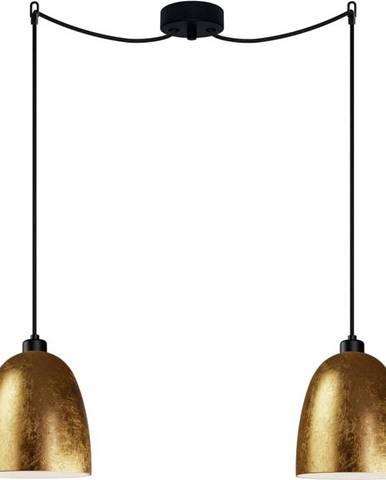 Dvouramenné závěsné svítidlo ve zlaté barvě Sotto Luce AWA Elementary 2S