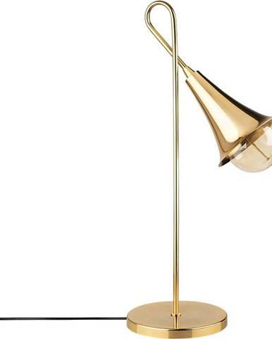 Kovová stolní lampa ve zlaté barvě Opviqlights Elisa