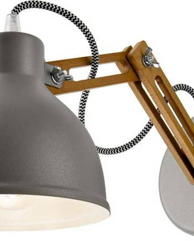 Šedá nástěnná lampa Lamkur Marcello